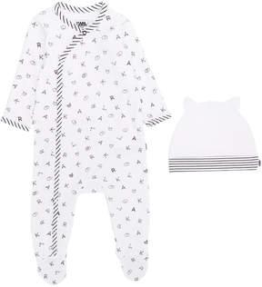 Karl Lagerfeld letter pajamas