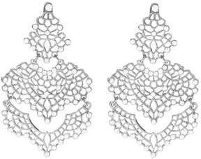 Amrita Singh Silvertone & Crystal Izabella Drop Earrings