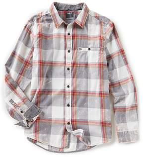 Hurley Burnside Long-Sleeve Plaid Washed Flannel Shirt