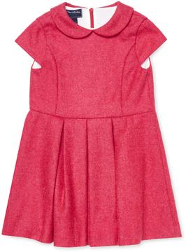 Oscar de la Renta Wool Cap Sleeve Dress