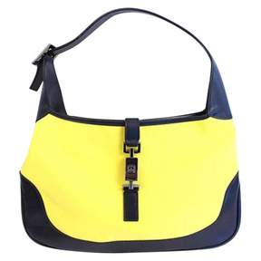 Gucci Yellow Cotton Handbag Jackie - YELLOW - STYLE