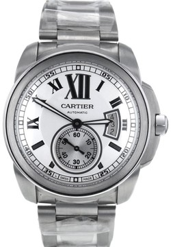 Cartier Calibre W7100015 Stainless Steel Silver Dial Automatic 42mm Men