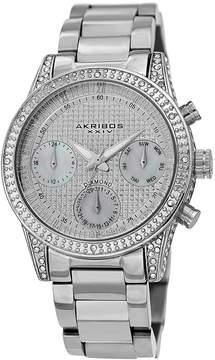Akribos XXIV Diamond Silver Dial Men's Watch