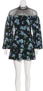 Emilia Wickstead Floral Print Mini Dress