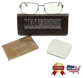 Gucci New Eyeglasses Gg1942 Rq5 55 17 135 Brown Metal Authentic From Italy
