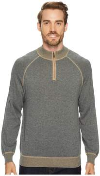 Agave Denim Victory at Sea Long Sleeve 1/4 Zip 12GG Sweater Men's Long Sleeve Pullover
