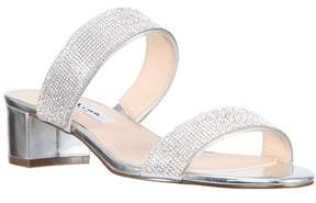 Nina Chunky Heel Double Banded Slide.