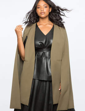 ELOQUII Below The Knee Cape Jacket