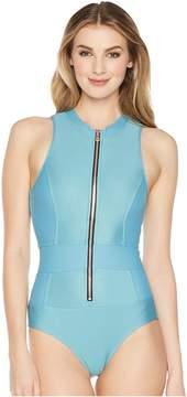 Athena Next by Feeling Fine Malibu Zip One-Piece Women's Swimsuits One Piece