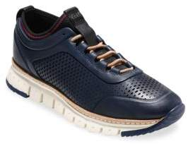 Cole Haan ZeroGrand Laser-Cut Leather Sneakers