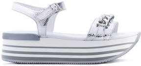 Hogan open toe chain detail sandals