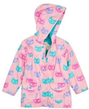 Hatley Toddler Girl's Silly Kitties Print Raincoat