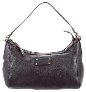 Kate Spade Pebbled Leather Bag - BLACK - STYLE