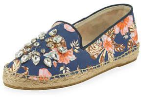 Patricia Green Floral-Print Embellished Espadrille
