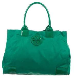 Tory Burch Patent Leather-Trimmed Ella Tote