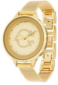C. Wonder Signature C Round Dial Mesh Strap Watch