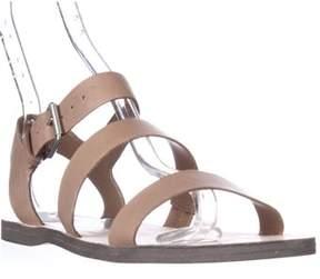 Dolce Vita Veya Flat Strapped Sandals, Caramel.