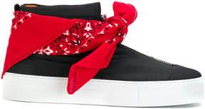 Joshua Sanders Bandana hi-top sneakers