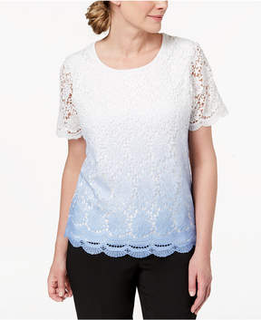 Alfred Dunner Daydreamer Ombre-Lace Sweater