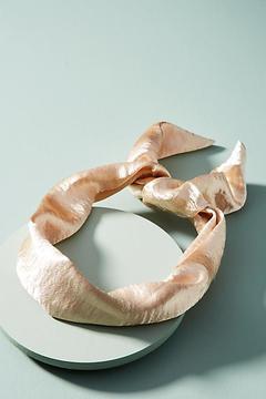 Anthropologie Shimmery Satin Headband