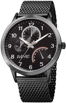 August Steiner Mens Black Strap Watch-As-8230bk
