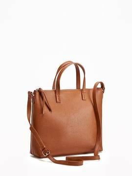 Zip-Top Crossbody Bag for Women