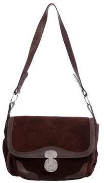 Ralph Lauren Suede Leather-Trimmed Crossbody Bag