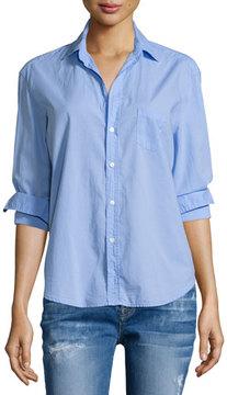 Frank And Eileen Eileen Button-Front Poplin Shirt, Indigo