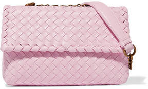 Bottega Veneta Olimpia Baby Intrecciato Leather Shoulder Bag - Pastel pink