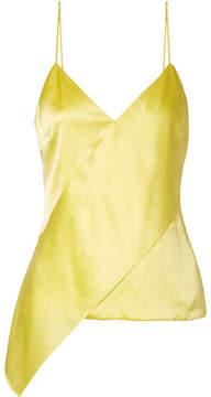 Cushnie et Ochs Paulina Asymmetric Silk-charmeuse Camisole - Yellow