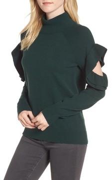 Chelsea28 Women's Ruffle Sleeve Sweater