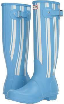 Hunter Garden Stripe Tall Rain Boots Women's Rain Boots