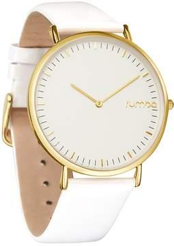 RumbaTime Women's SoHo Patent Leather Snow Watch