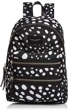 Marc Jacobs Biker Wavy Spot Printed Backpack - BLACK MULTI/SILVER - STYLE