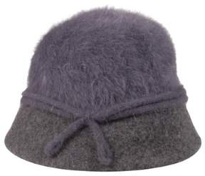 Nine West Women's Metallic Angora Cloche Hat (OS, Grey)