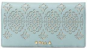 Lauren Ralph Lauren Womens Lauderdale Laser Cut Slim Bifold Wallet