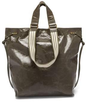 Isabel Marant Doogan Patent Leather Tote - Womens - Khaki Multi