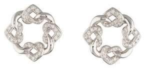 Bvlgari 18K Interlocking Heart Diamond Earrings