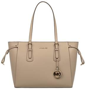 Michael Kors Oat Voyager Saffiano Leather Tote - NATURAL - STYLE