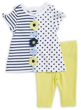 Kids Headquarters Baby Girl's Two-Piece Daisy Capri and Top Set