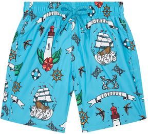 Vilebrequin Nautical Tattoo Print Shorts