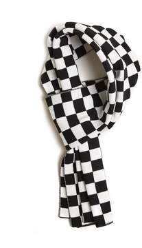 21men 21 MEN Men Checkered Knit Scarf