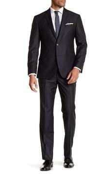 Kenneth Cole Reaction Blue Grid Two button Notch Lapel Techni-Cole Performance Trim Fit Suit