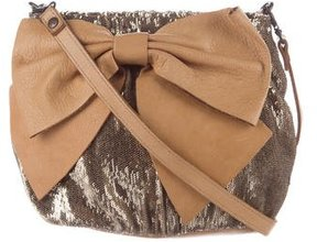 Red Valentino Sequin-Embellished Bow Bag