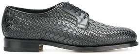 Santoni textured brogues