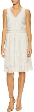 Ava & Aiden Women's Pleated Burnout A Line Dress