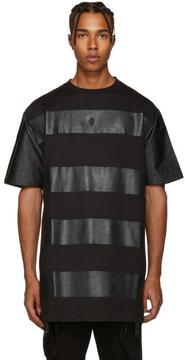 Marcelo Burlon County of Milan Black Panelled T-Shirt