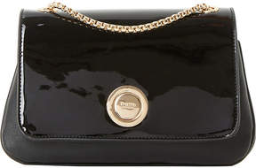 Dune Elfina circle-lock patent shoulder bag