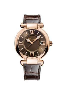 Chopard Imperiale Brown Dial 18K Rose Gold Ladies Watch 384221-5009