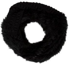 Diane von Furstenberg Fur-Trimmed Lambswool Scarf